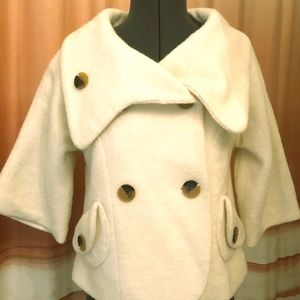 Priorities (Anthropologie) Cropped Wool Coat